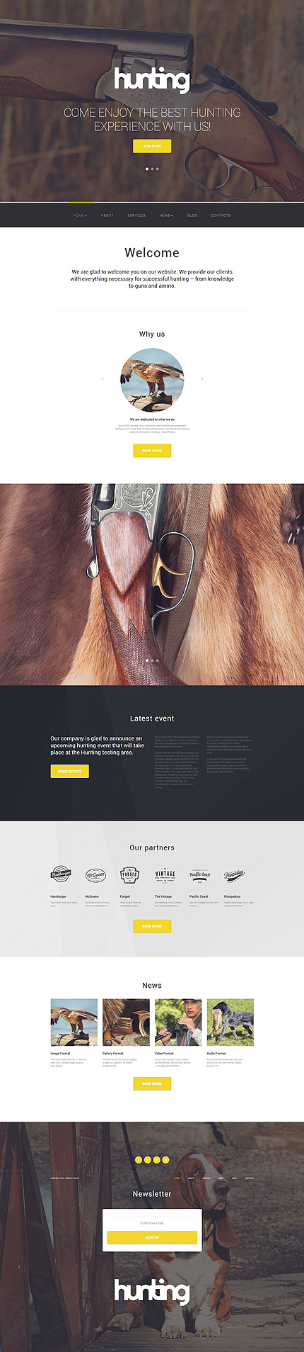 Hunting WordPress Template