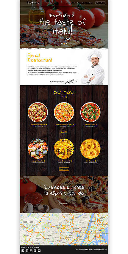 Italian Restaurant WordPress Template