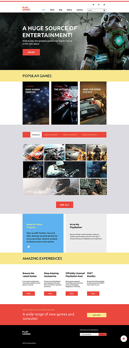 Games WordPress Template